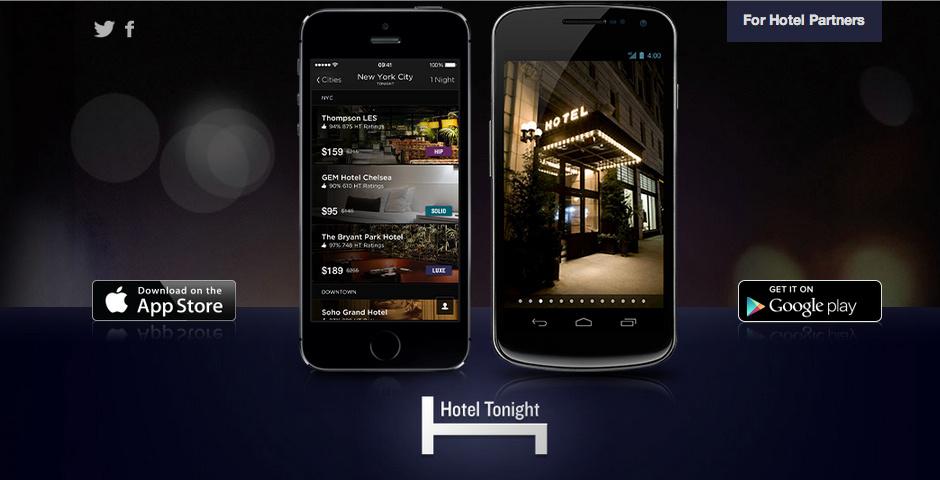 Webby Award Nominee - HotelTonight for iPad