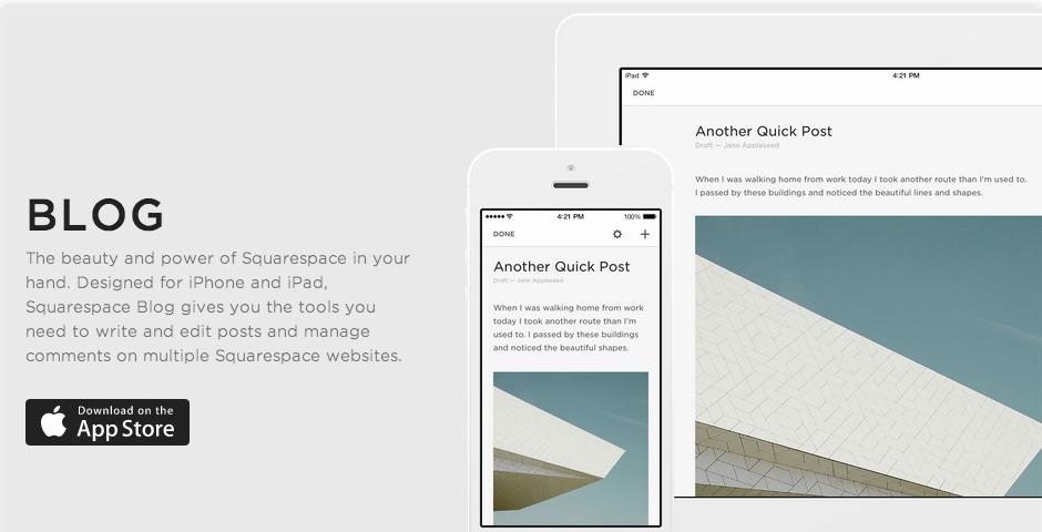 Nominee - Squarespace Blog App