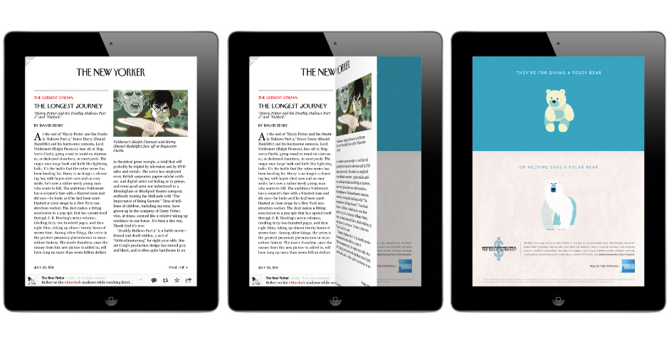 Nominee - The New Yorker – Tablet App