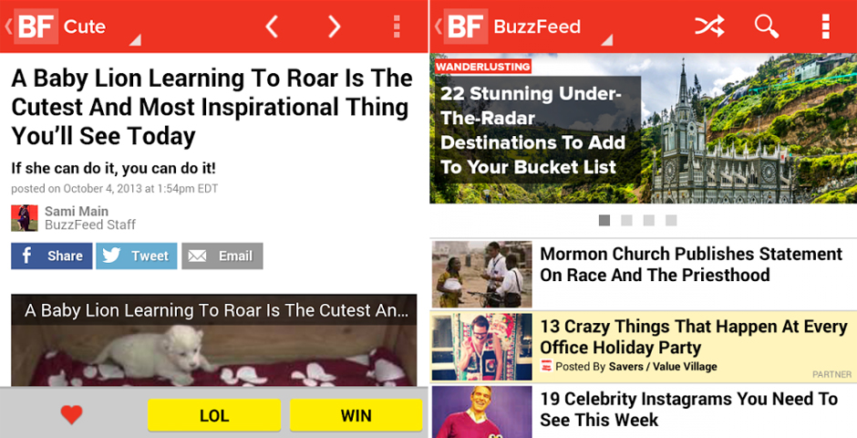 People's Voice - BuzzFeed Mobile App