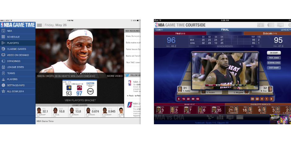 Nominee - NBA GameTime for iPad/Android Tablets