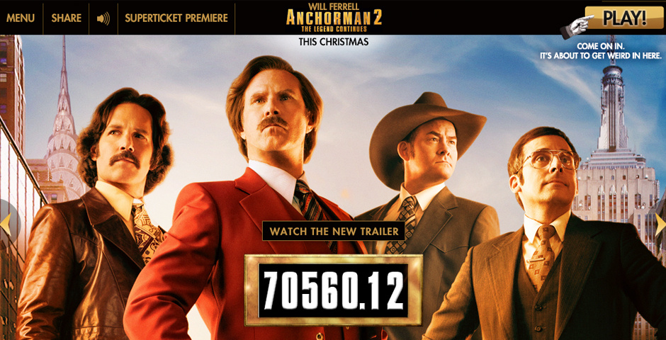Webby Award Nominee - Anchorman 2 Official Movie Site