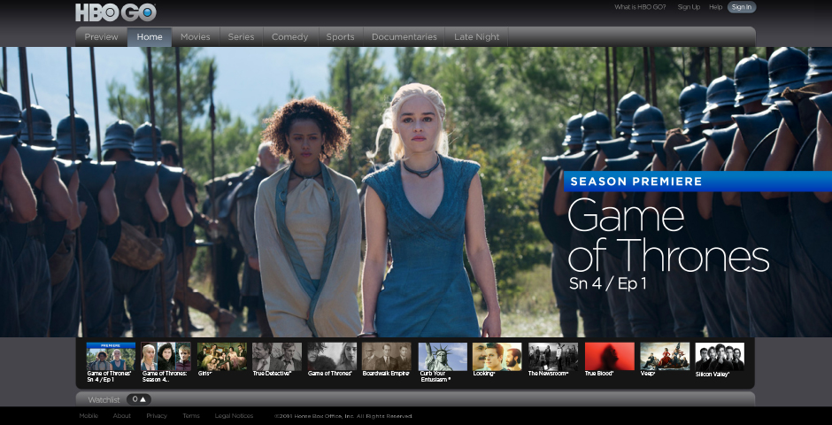 Honoree - HBO GO