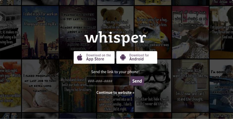 Webby Award Nominee - Whisper