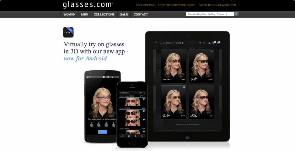 Webby Award Nominee - Glasses.com App