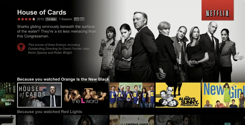 Webby Award Winner - Netflix User Interface Update for TV-connected Devices