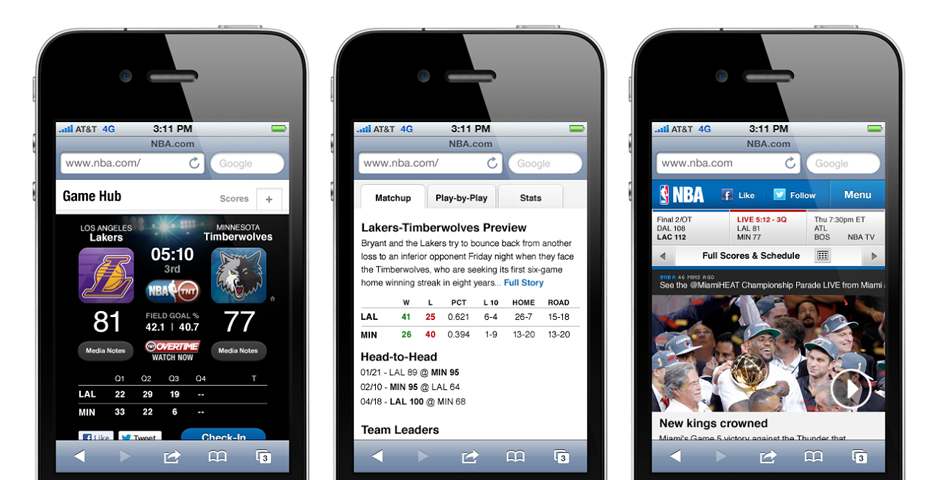 Nominee - NBA.com mobile