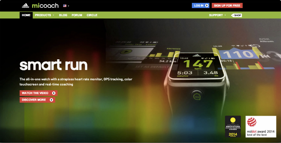 Nominee - adidas miCoach Smart Run