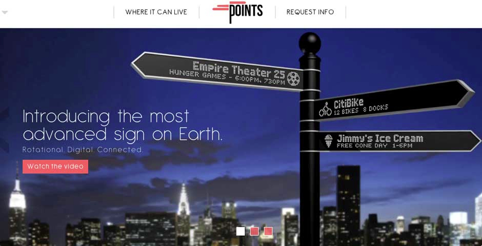 Webby Award Winner - Points – The Most Advanced Street Sign on Earth.