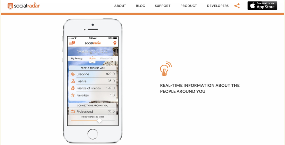 Nominee - SocialRadar – Real-time Information on the People Around You