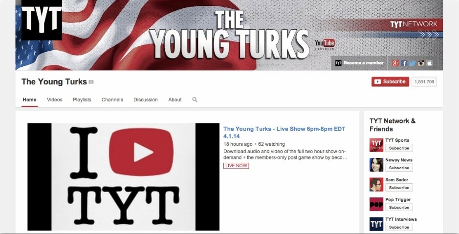 Webby Award Nominee - The Young Turks