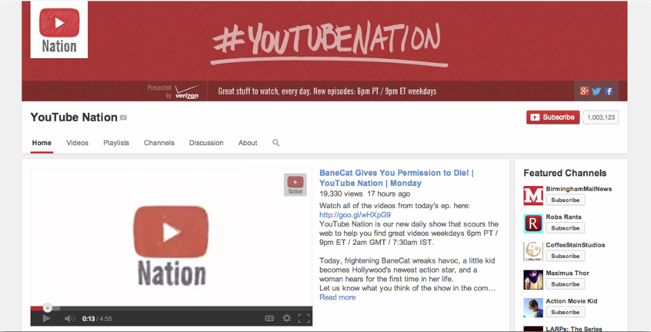Nominee - YouTube Nation