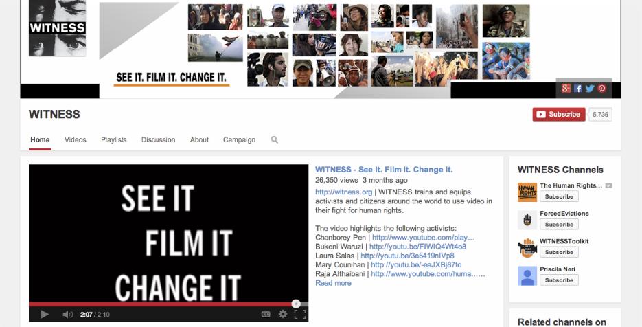 Nominee - WITNESS:  See It.  Film It.  Change It.