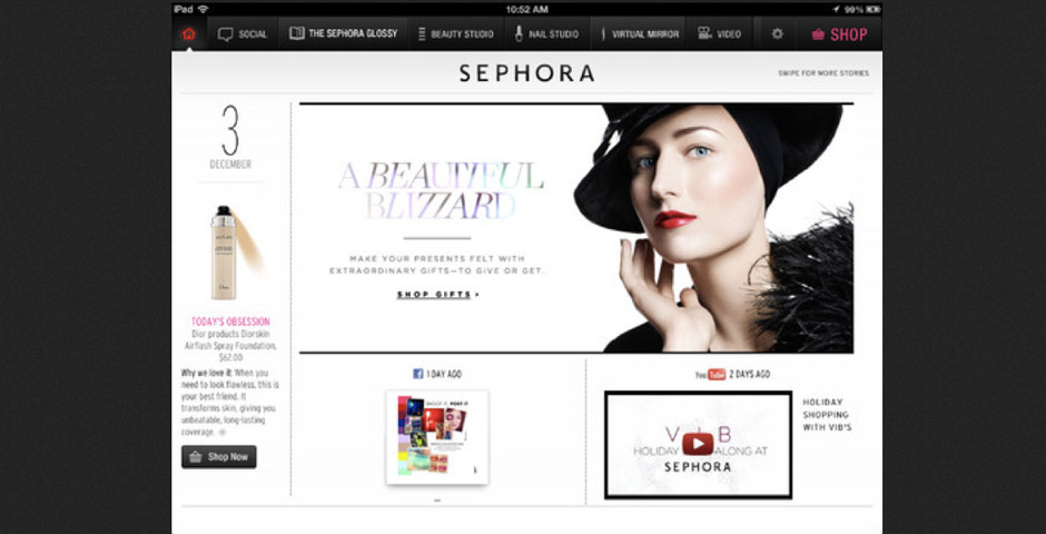Webby Award Nominee - Sephora App for iPad