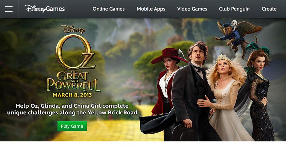 2012 Webby Winner - Disney.com/Games