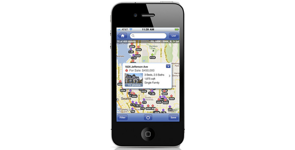 2012 Webby Winner - Zillow Real Estate App