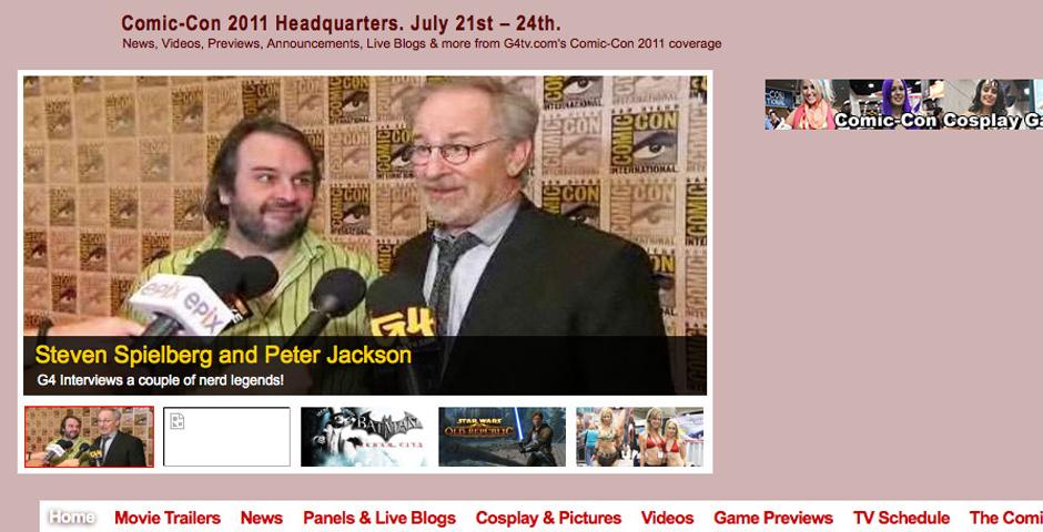 Nominee - G4TV.COM Comic-Con site