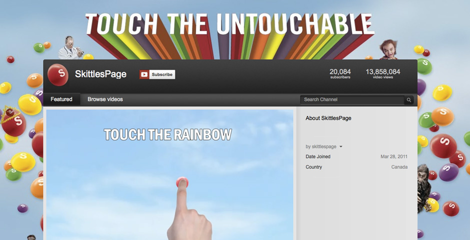 Webby Award Winner - Touch the Rainbow