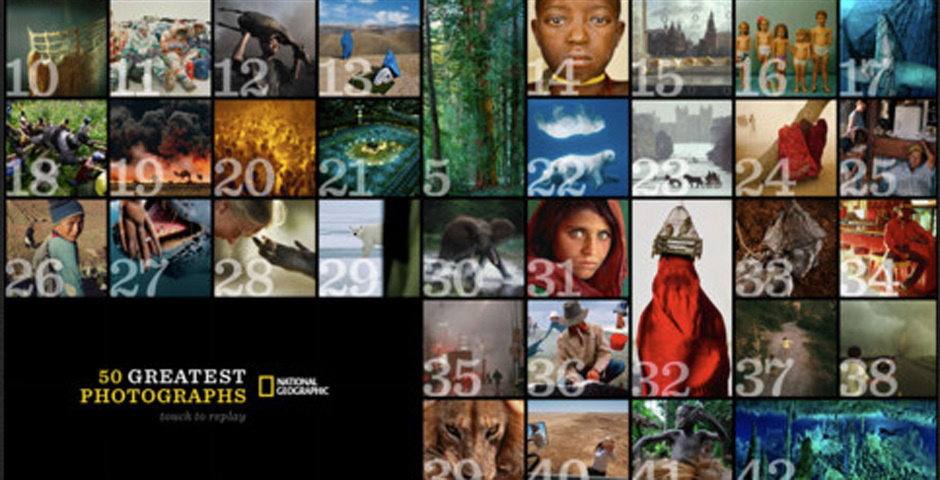 2012 Webby Winner - 50 Greatest Photographs of National Geographic