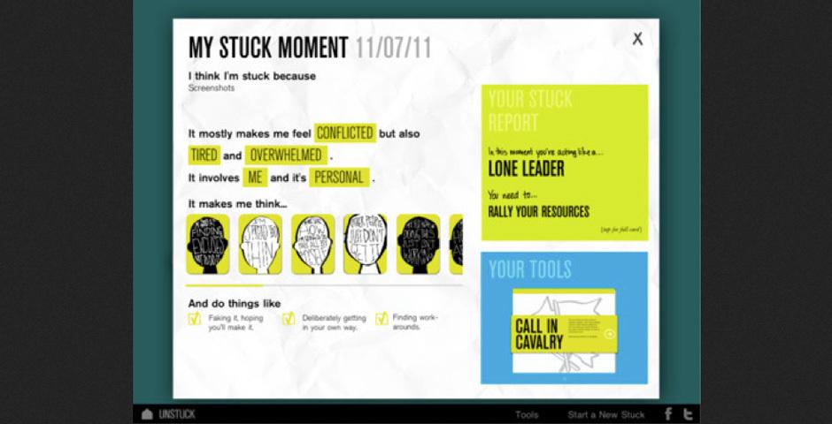 2012 Webby Winner - Unstuck