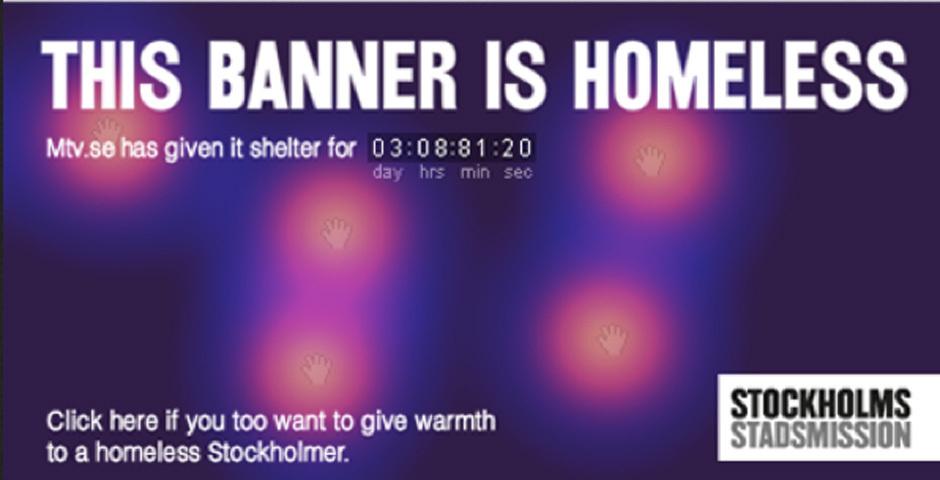 2012 Webby Winner - Homeless Banners
