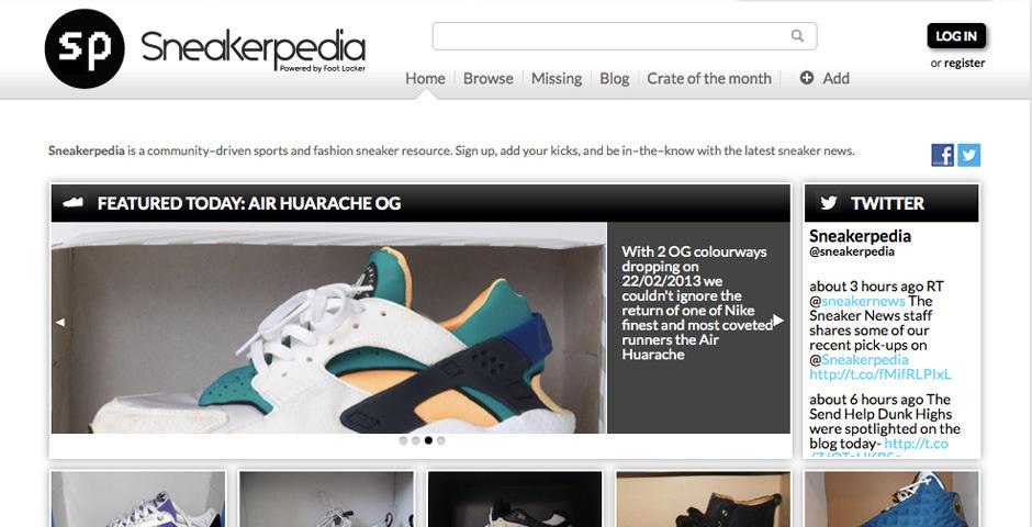 Webby Award Nominee - Sneakerpedia