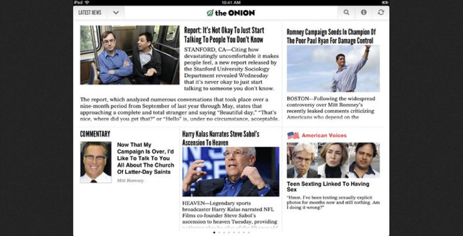 2012 Webby Winner - The Onion\'s iPad App