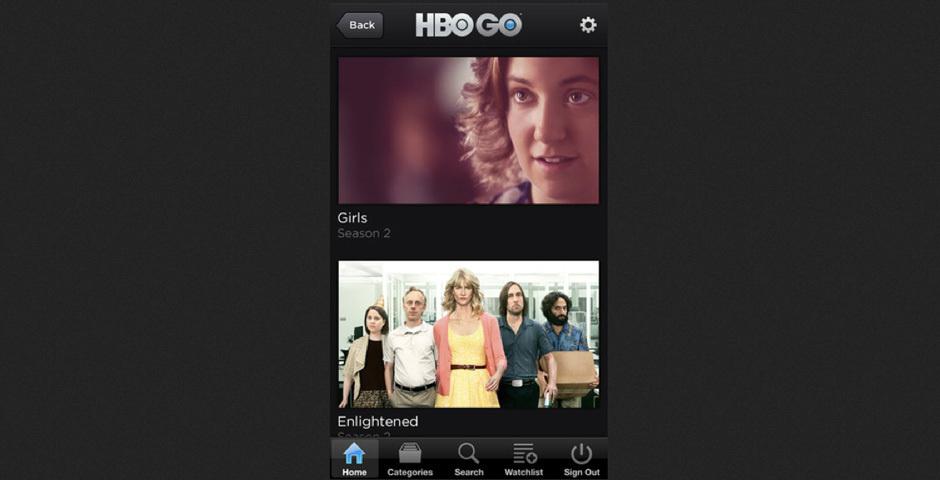 Webby Award Nominee - HBO GO Mobile Apps