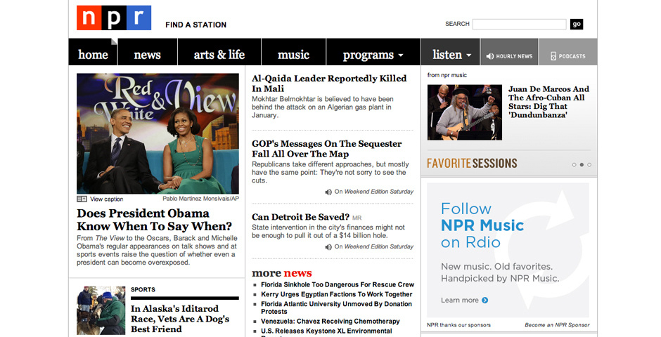 Webby Award Nominee - NPR