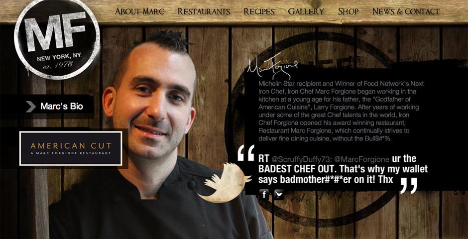 2012 Webby Winner - Chef Marc Forgione