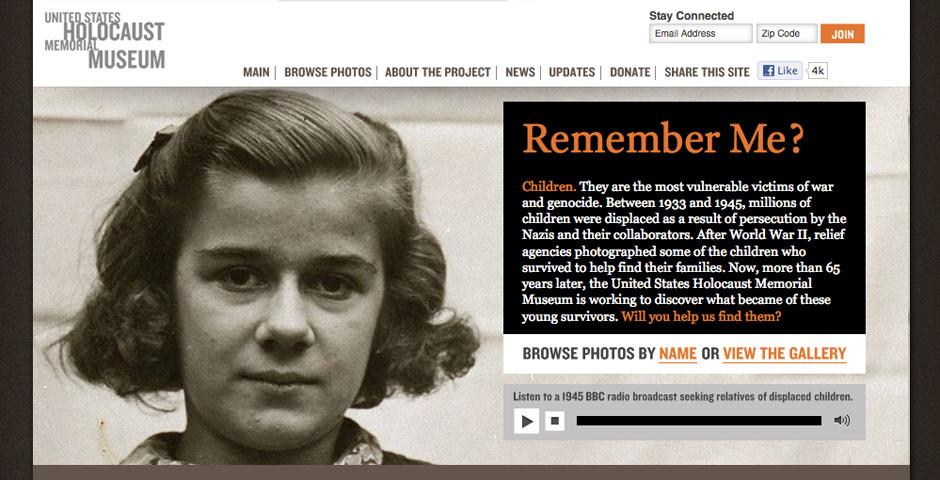 2012 Webby Winner - United States Holocaust Memorial Museum