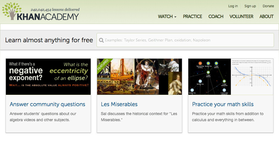 2012 Webby Winner - Khan Academy