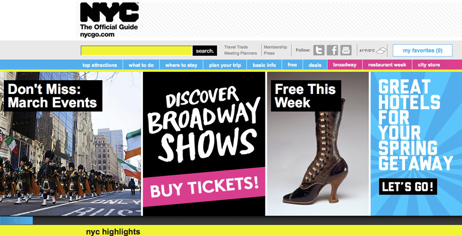 2012 Webby Winner - NYC The Official Guide