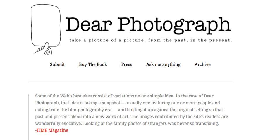 Nominee - Dear Photograph