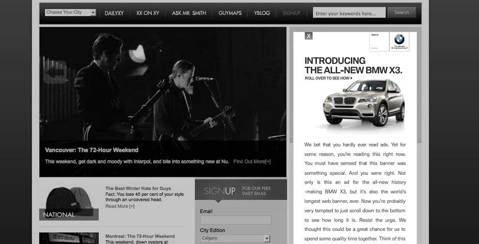 2012 Webby Winner - X3 launch