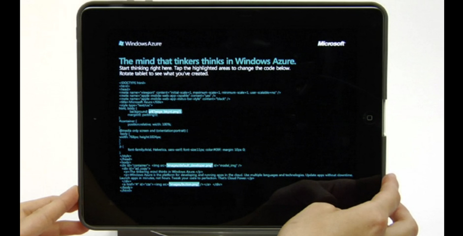 Webby Award Winner - Microsoft Windows Azure iPad Ad
