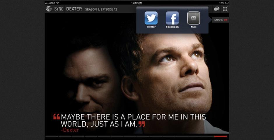 2012 Webby Winner - SHO Social App for iPad