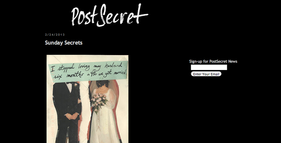 People's Voice - PostSecret