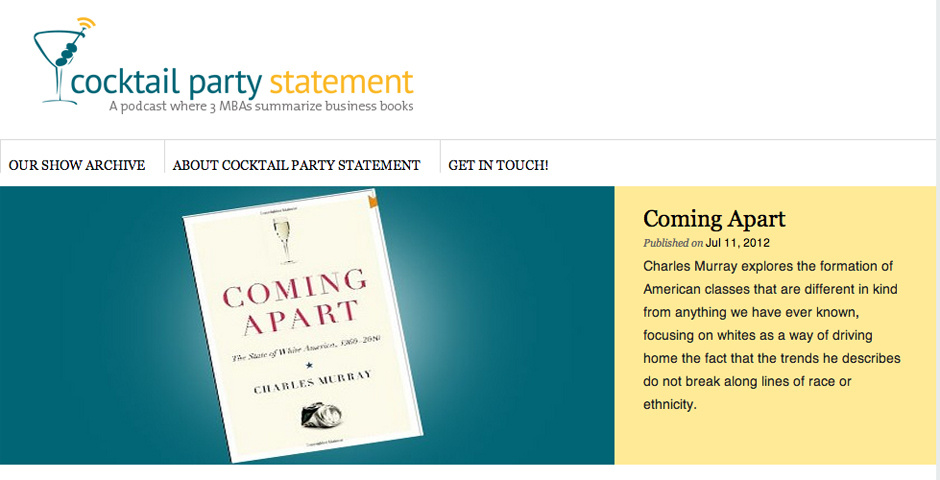 Webby Award Nominee - The Cocktail Party Statement