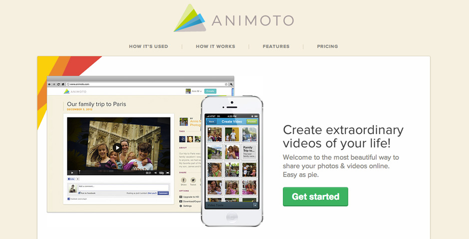 Nominee - Animoto: Make Video Creation Easy