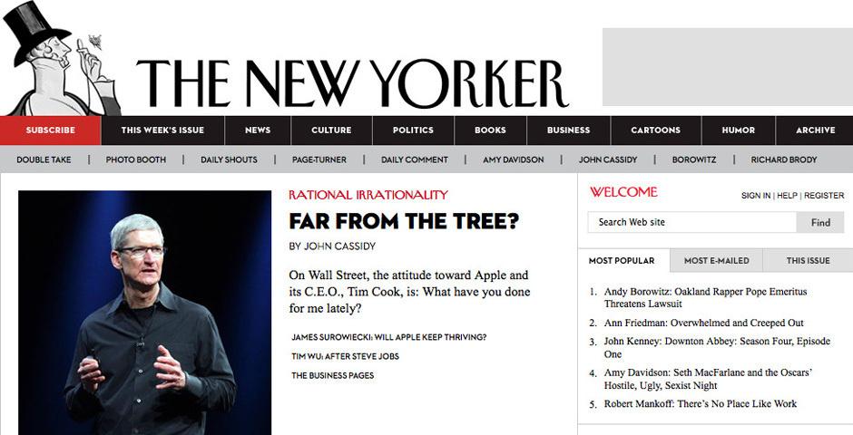 Webby Award Nominee - The New Yorker