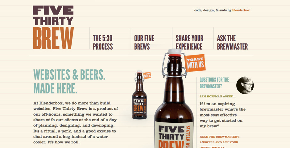 Webby Award Nominee - Five Thirty Brew