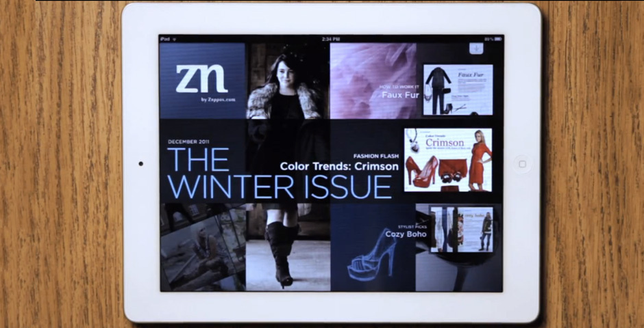 Webby Award Nominee - Zappos ZN Magazine for iPad