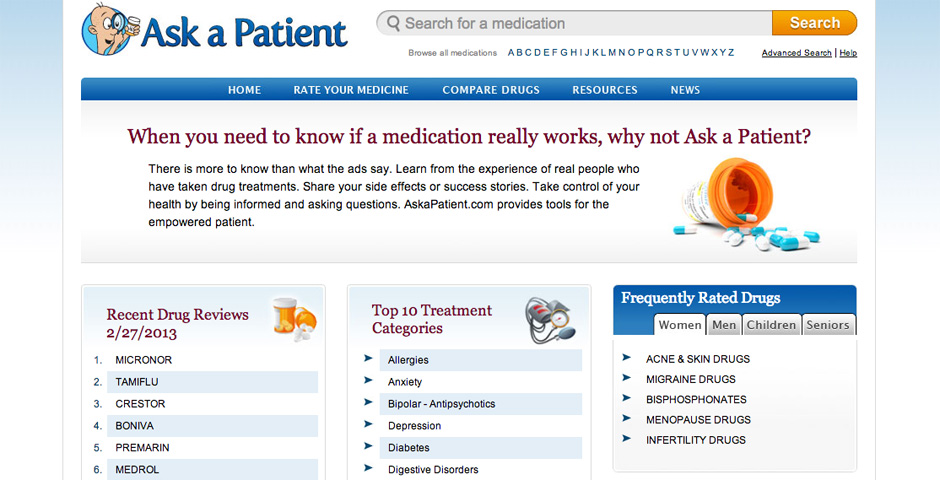 Webby Award Winner - Ask A Patient