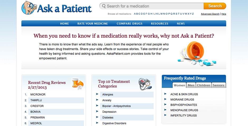 2012 Webby Winner - Ask A Patient