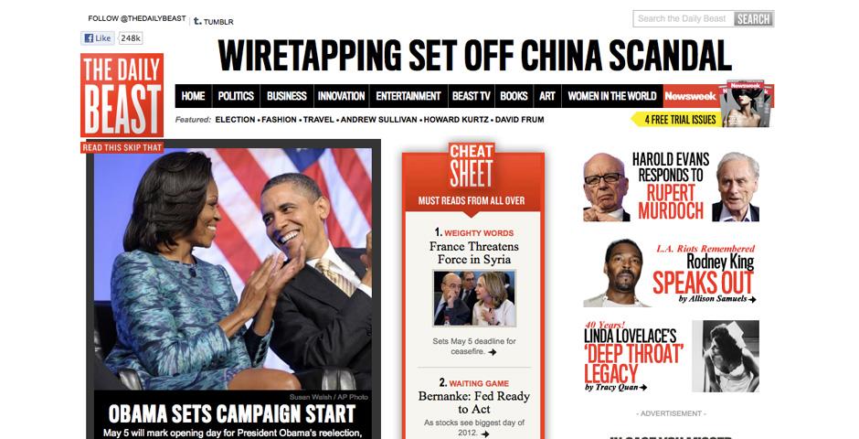 Webby Award Winner - The Daily Beast