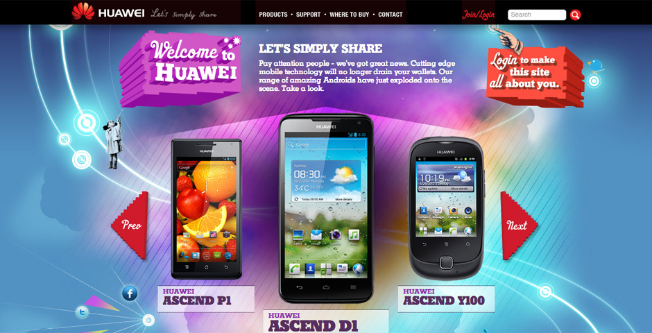 2012 Webby Winner - Huawei Mobiles
