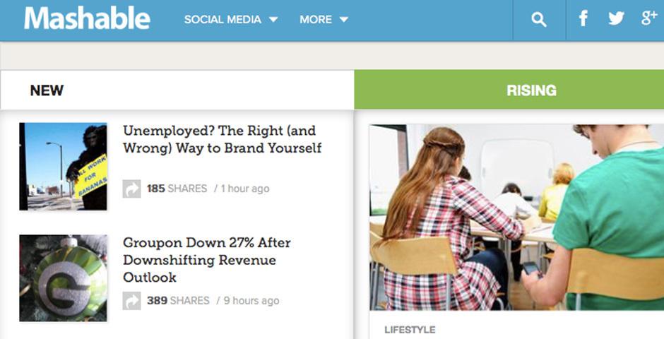 2012 Webby Winner - Mashable