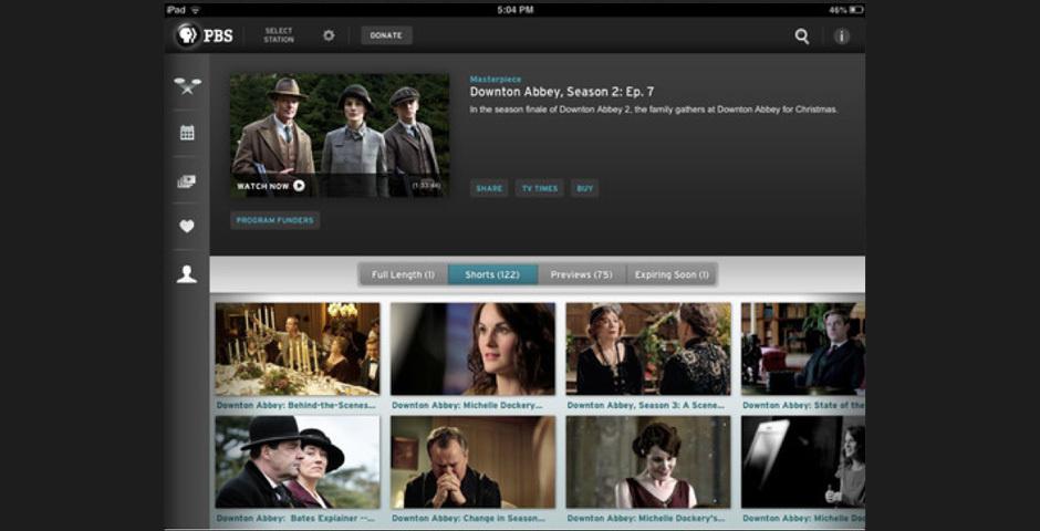 Webby Award Nominee - PBS for iPad