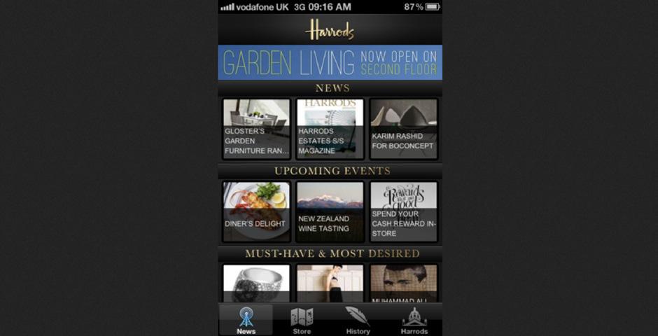 Nominee - Harrods Store App